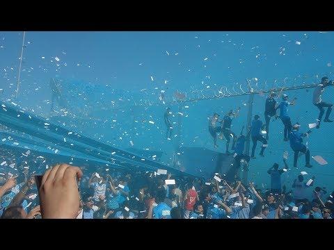 """""""CLASICO EN ALBERDI...SALIDA DE LOS EQUIPOS"""" Barra: Los Piratas Celestes de Alberdi • Club: Belgrano"""