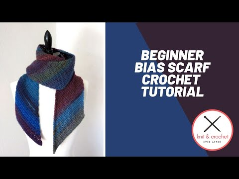 Beginner Left Handed Crochet Patterns : Left Hand Beginner Bias Scarf ? Knit and Crochet Ever After