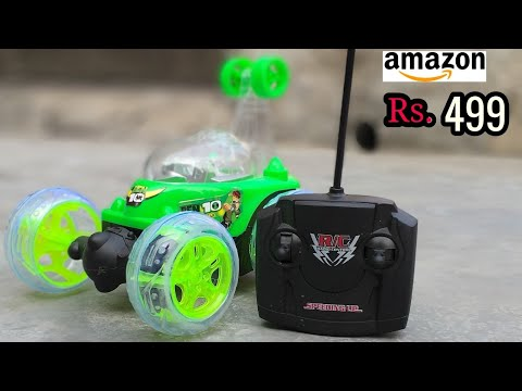 Off Road Remote Control Ben 10 Plastic Stunt Car ! RC 360 Degree Rotating Stunt Car Unbox N Play