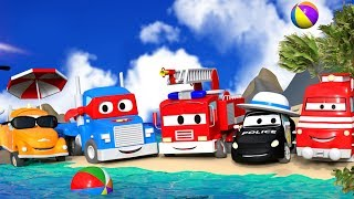 Автомобильный Город в отпуске ☀ Лето сборник ⛵ Том, Карл, Мат и Троя на пляже ♒
