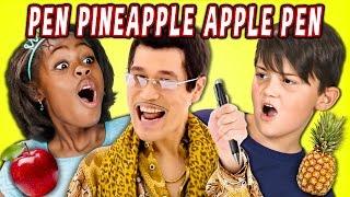 KIDS REACT TO PPAP Pen Pineapple Apple Pen