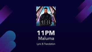 Maluma 11pm Lyrics English Translation   Spanish And English Lyrics   Meaning  Subtitles