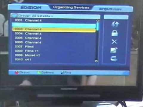 How to Sort Channels On the Edision Argus Mini Satellite Combo Receiver