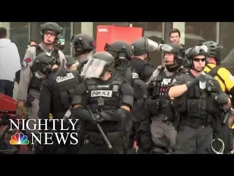 Tense Standoff In Portland Between Far Right And Anti-Fascist Groups | NBC Nightly News