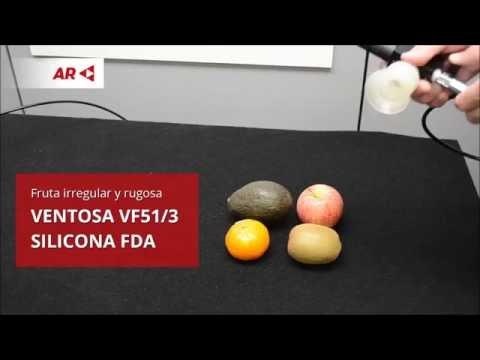Manipulación de fruta con ventosas