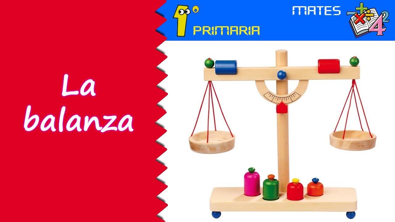 Matemáticas. 1º Primaria. Tema 3: La balanza
