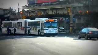 preview picture of video 'MTA New York City Bus 2003 New Flyer D60HF Articulated #5720 @ Westchester Avenue!'
