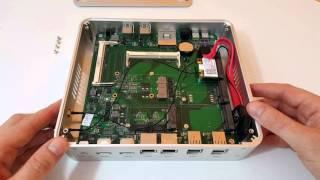 Intel i5 5257U Iris 6100 Fanless $293 Barebones Mini PC Unboxing