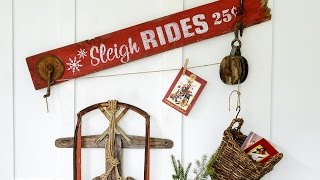 Christmas Decorating With Funky Junks Old Sign Stencils!