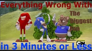 (Parody) Everything Wrong With Sonic Boom - The Biggest Fan in 3 Minutes or Less