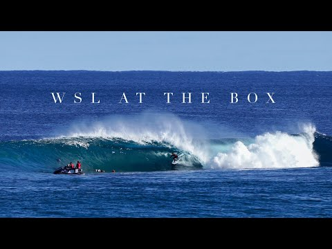 Pro surfers ripping fun waves at the Box