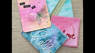 Watercoloring and the We R Memory Keepers Next Level Embossing Folders