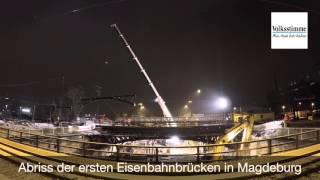 Brückenabriss in Magdeburg