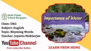 UKG   Teacher - Joyeeta Mukherjee   EVS Importance of Water   DPS Durgapur