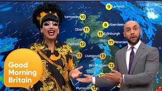 Drag Queen Bianca Del Rio Hijacks the Weather Forecast | Good Morning Britain