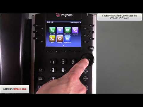 Factory Installed Certificate on Polycom VVX400 series IP phones ...