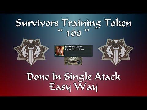 War Commander - Survivors Training Token Base (100) - Easy Way