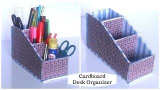 DIY Cardboard Organizer | Desk Organizer | Cardboard Crafts Easy