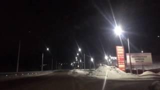 Светопреставление: уличные фонари в Петропавловске работают в режиме мигания
