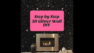 PERFECT GLITTER WALL DIY STEP BY STEP