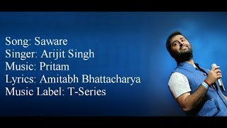 """Saware"" Full Song With Lyrics Arijit Singh Pritam Phantom"