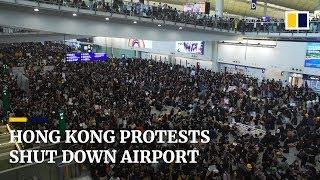 Hong Kong protests shut down airport
