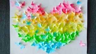 Сердце из бабочек! Поделки из бумаги!