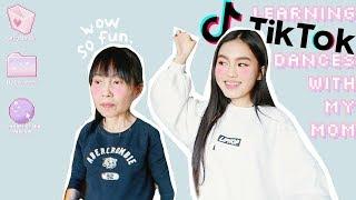 LEARNING TIK TOK DANCES WITH MY MOM 🕺 Jessica Vu