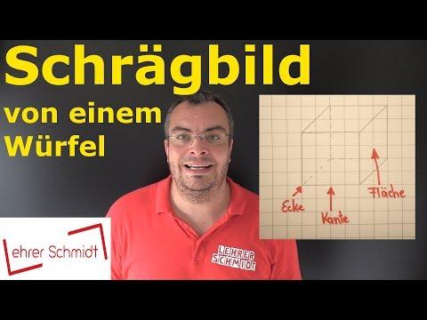 Cover: Schrägbild zeichnen   Würfel zeichnen   Mathematik - einfach erklärt   Lehrerschmidt - YouTube