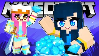 Playing BEDWARS but we FREEZE in Minecraft!