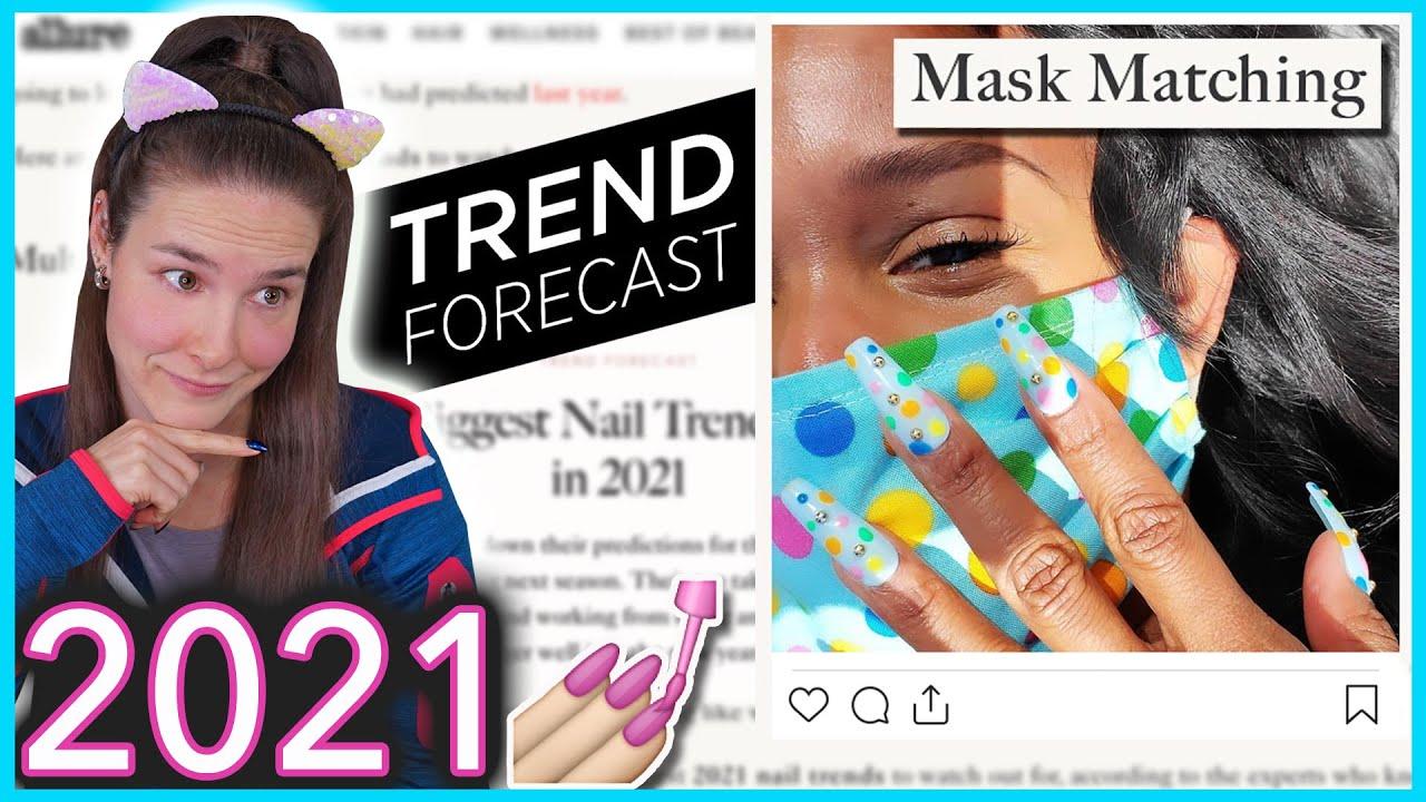Trying 2021 Nail Art Trends thumbnail