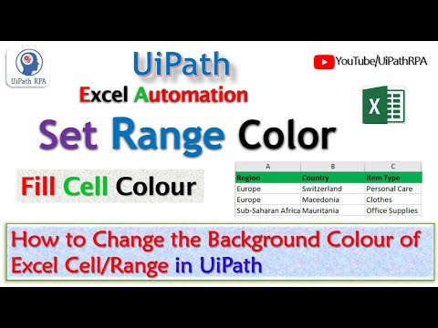 How to change color of cell of excel in UiPath - смотреть