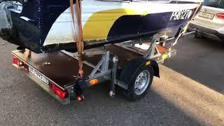 Стапель для перевозки лодки на прицепе платформа