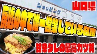 廃墟の中で唯一営業しているカツ丼の名店があるぞ!緑屋山口県グルメ