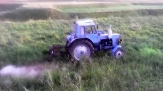 Последний сенокос в 2017 году с трактором МТЗ 80+КРР-1.85