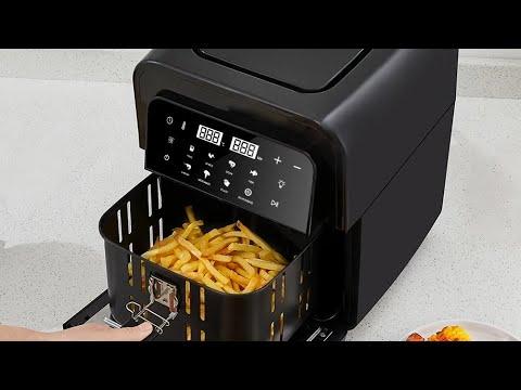 Картофель фри в аэрофритюрнице BioloMix AF536 French fries in an air fryer