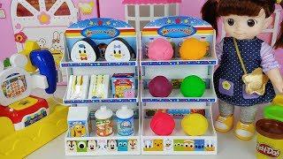 Play Doh and Baby doll Disney mart toys play - ToyMong TV 토이몽