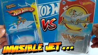 HOT WHEELS - WONDER WOMAN INVISIBLE JET - 2010 & 2017