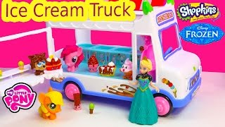 Ice Cream Van Truck Moshi Monsters Queen Elsa MLP Fash'ems Shopkins Ice Scream Food Factory Fun