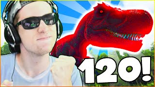 TAMING A MAXIMUM LEVEL DINOSAUR! - ARK: YouTuber Survival #60