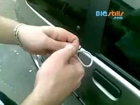 Unlock Your Car From The Outside With A Shoelace