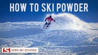 Powder - Ski Lesson, How to ski Powder