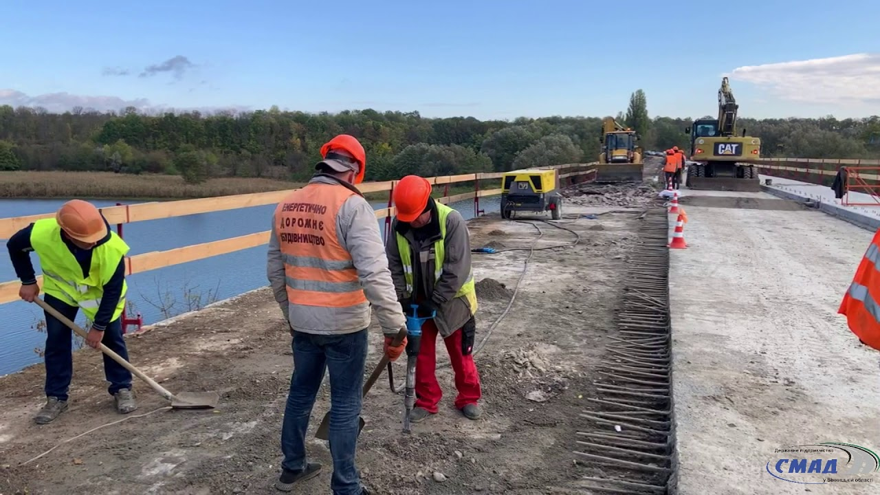 У Немирівському районі 60% робіт на мосту вже позаду