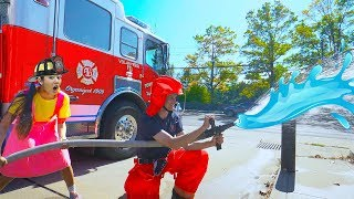 How To Learn Fire Safety | Ellies Firefighter Education Video For Children