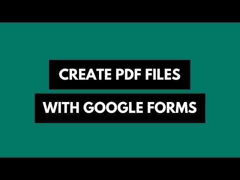 How to Automatically Create PDFs with Google Form Responses
