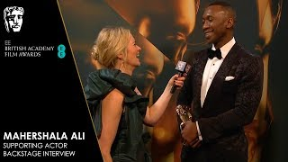 Mahershala Ali Reacts To Winning Supporting Actor For Green Book | EE BAFTA Film Awards 2019