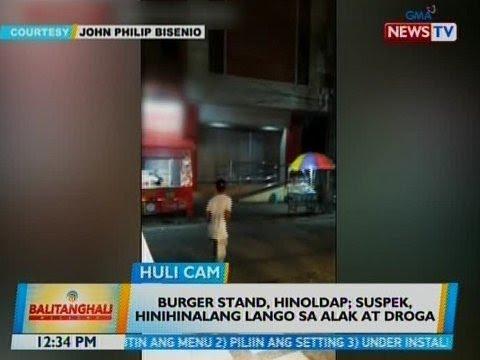 BT: Burger stand, hinoldap sa CamSur; suspek, hinihinalang lango sa alak at droga