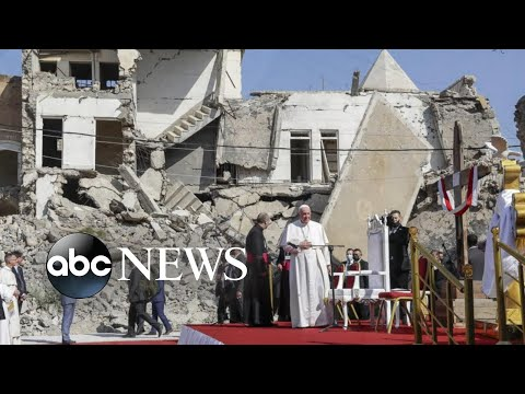 Pope Francis' historic trip continues into northern Iraq