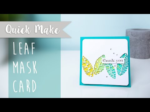 Leaf Mask Card - Sizzix