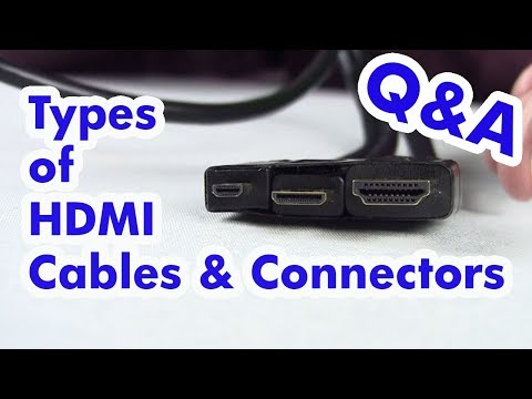 Types of HDMI Cables - Standard, Micro, & Mini